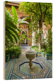 Wood print  Bahia Palace in Marrakech - Nico Tondini