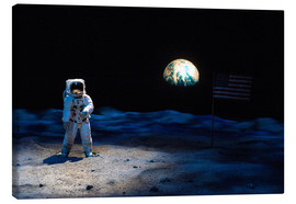 Canvas print  Astronaut on the moon - Jim Engelbrecht