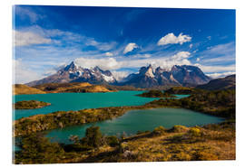 Acrylic print  View of the Torres del Paine - Walter Bibikow