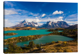 Canvas print  View of the Torres del Paine - Walter Bibikow