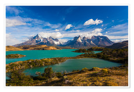 Premium poster  View of the Torres del Paine - Walter Bibikow