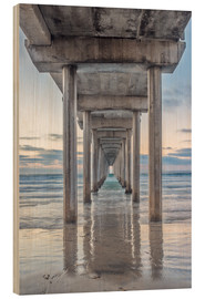 Wood print  Scripps Pier in La Jolla - Rob Tilley