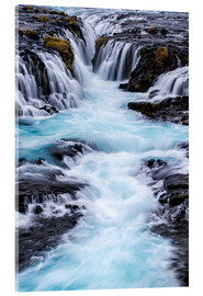 Dennis Kirkland - Bruarfoss, waterfalls flow into the river