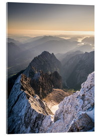 Acrylic print  View over the Alps from Zugspitze - Andreas Wonisch