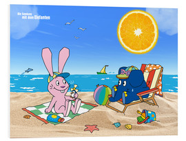 Foam board print  Elephant and Hare go on holiday