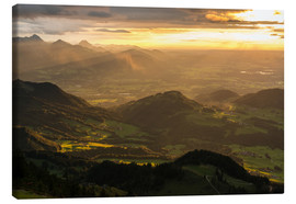 Canvas print  View from Hochries Mountain in the Bavarian Alps - Markus Ulrich