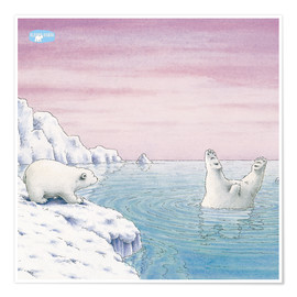 Premium poster  The Little Polar Bear at splash