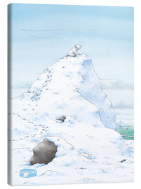 Canvas print  The Little Polar Bear, at the top