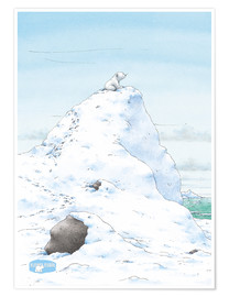 Premium poster  The Little Polar Bear, at the top