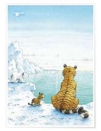 Premium poster The Little Polar Bear with friends