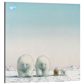 Alu-Dibond  The Little Polar Bear and his family