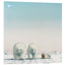 Foam board print  The little polar bear and his family