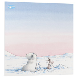 Foam board print  The little polar bear