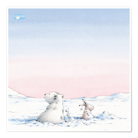 Premium poster The little polar bear