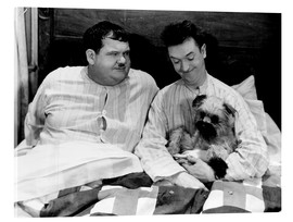 Acrylic print  Bedtime with Laurel & Hardy