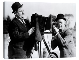 Canvas print  THE BIG NOISE, Laurel & Hardy