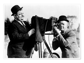 Premium poster  THE BIG NOISE, Laurel & Hardy
