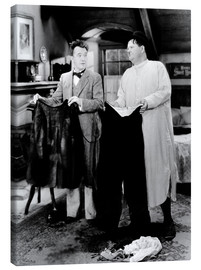 Canvas print  BONNIE SCOTLAND, Stan Laurel, Oliver Hardy