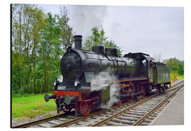 Aluminium print  Old Steam Locomotive in the Black Forest - FineArt Panorama