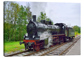 Canvas print  Old Steam Locomotive in the Black Forest - FineArt Panorama