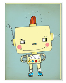 Premium poster  Robbie robot in love - Little Miss Arty