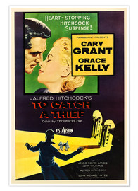 Premium poster TO CATCH A THIEF, Alfred Hitchcock, Cary Grant, Grace Kelly
