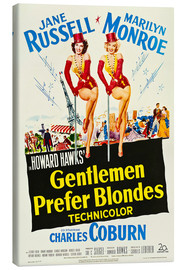 Canvas print  GENTLEMEN PREFER BLONDES, Jane Russell, Marilyn Monroe