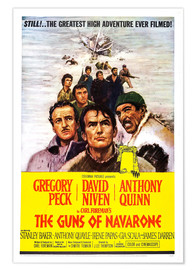 Premium poster THE GUNS OF NAVARONE, David Niven, Gregory Peck, Anthony Quinn