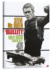 Canvas print  Steve Mcqueen in Bullitt