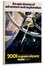 Wood print  2001: A Space Odyssey