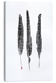 Canvas print  The author's feathers - Sybille Sterk