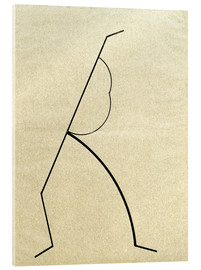 Acrylic glass  Analytical drawing after photos of dancing?.. - Wassily Kandinsky