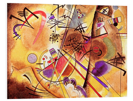 Foam board print  Small dream in red - Wassily Kandinsky