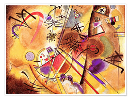Premium poster  Small dream in red - Wassily Kandinsky