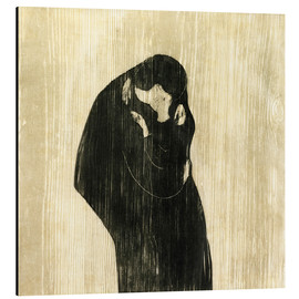 Aluminium print  The Kiss IV - Edvard Munch