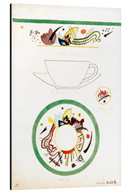 Aluminium print  Sketch for a cup and saucer - Wassily Kandinsky
