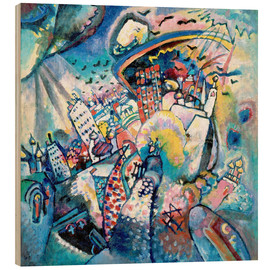 Wood print  Red square - Wassily Kandinsky