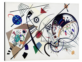 Aluminium print  Continuous line - Wassily Kandinsky