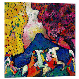 Acrylic glass  Blue Mountain - Wassily Kandinsky