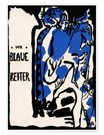 Premium poster  The Blue Rider (German) - Wassily Kandinsky