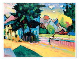 Premium poster Murnau - Landscape with green house