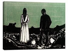 Canvas print  Two People (The Lonely Ones) - Edvard Munch