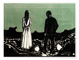Premium poster  Two human Beings. The Lonely Ones - Edvard Munch
