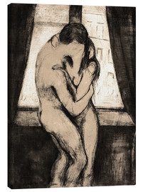 Canvas print  The kiss - Edvard Munch