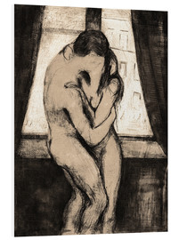 Foam board print  The kiss - Edvard Munch