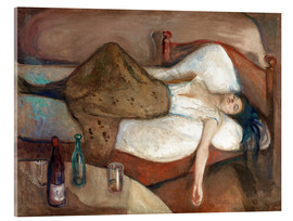 Acrylic print  The day after - Edvard Munch