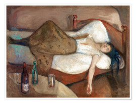 Premium poster  The day after - Edvard Munch