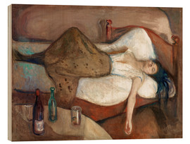 Wood print  The day after - Edvard Munch