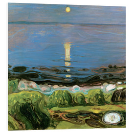 Foam board print  Summer night on the beach - Edvard Munch