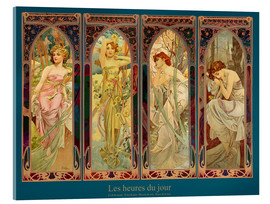 Acrylic glass  Les heures du jour, nuit collage (French) - Alfons Mucha